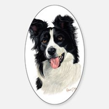 Border Collie Head Decal