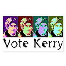 Vote Kerry Pop-Art Sticker (Rect.)