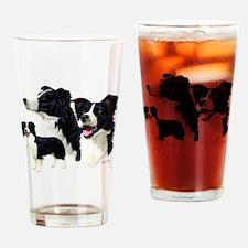 Border Collie Multi Drinking Glass