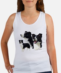 Border Collie Multi Women's Tank Top