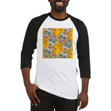 SugarSkull Halloween Yellow Baseball Jersey