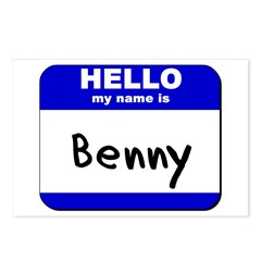 hello my name is benny Postcards (Package of 8)