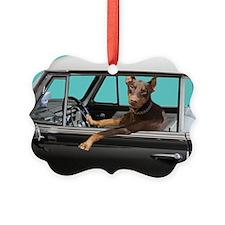 Doberman Pinscher in Classic Car Ornament