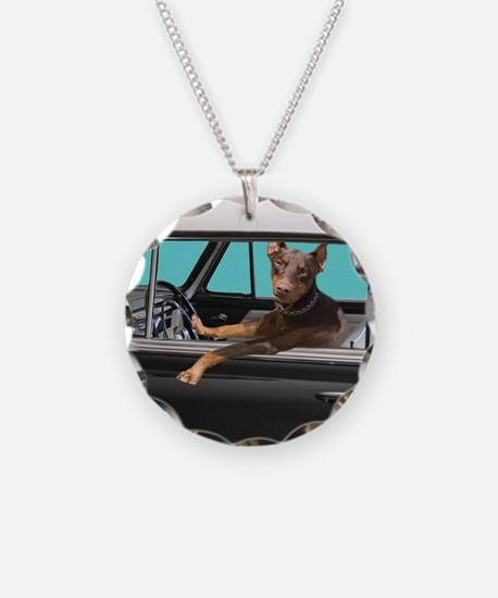Doberman Pinscher in Classic Necklace