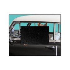Doberman Pinscher in Classic Car Picture Frame
