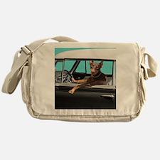 Doberman Pinscher in Classic Car Messenger Bag