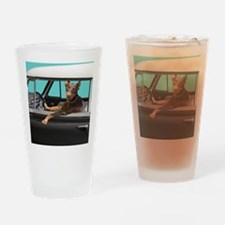 Doberman Pinscher in Classic Car Drinking Glass