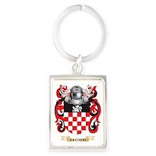 Zacheri Family Crest (Coat of Ar Portrait Keychain