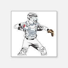 "Catcher C Square Sticker 3"" x 3"""