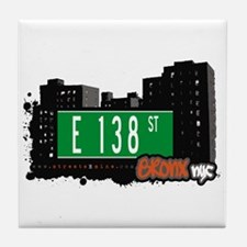 E 138 St, Bronx, NYC Tile Coaster