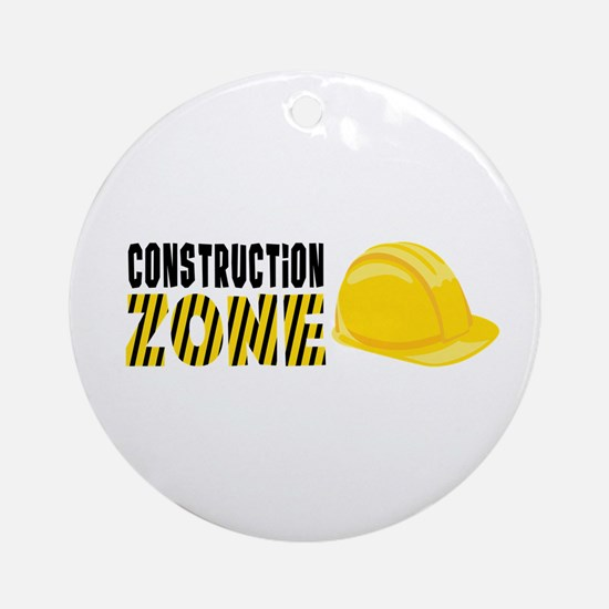 Construction Zone Ornament (Round)