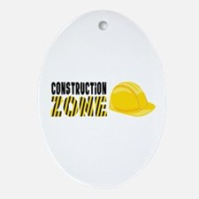 Construction Zone Ornament (Oval)
