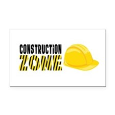Construction Zone Rectangle Car Magnet