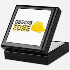 Construction Zone Keepsake Box