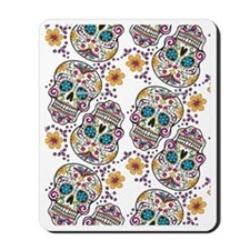 Day of The Dead Sugar Skull, Halloween Mousepad