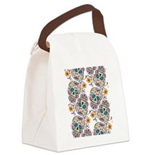 Day of The Dead Sugar Skull, Hall Canvas Lunch Bag