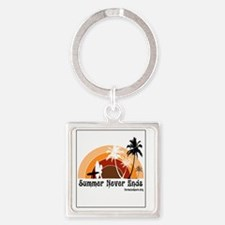 Summer Never Ends Square Keychain