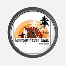 Summer Never Ends Wall Clock
