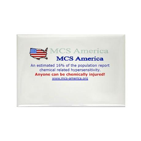 MCS America Logo Rectangle Magnet