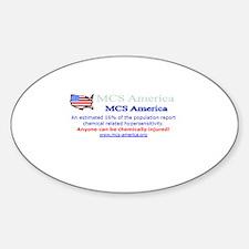 MCS America Logo Wear Oval Decal