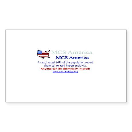 MCS America Logo Wear Rectangle Sticker