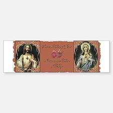 2 Sacred Hearts Bumper Bumper Bumper Sticker