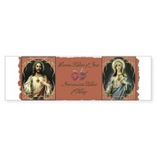 2 Sacred Hearts Bumper Bumper Sticker