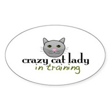Cat Lady Training Oval Decal