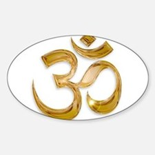 Gold Om Decal