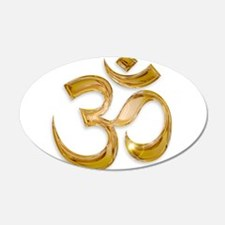 Gold Om Wall Decal