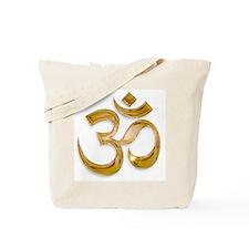 Gold Om Tote Bag