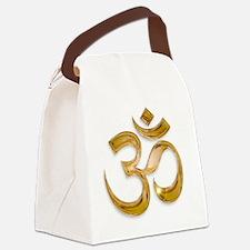 Gold Om Canvas Lunch Bag