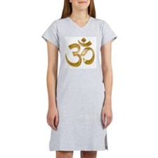 Gold Om Women's Nightshirt