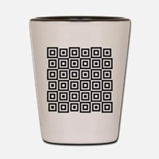 Groovy Squares Shot Glass