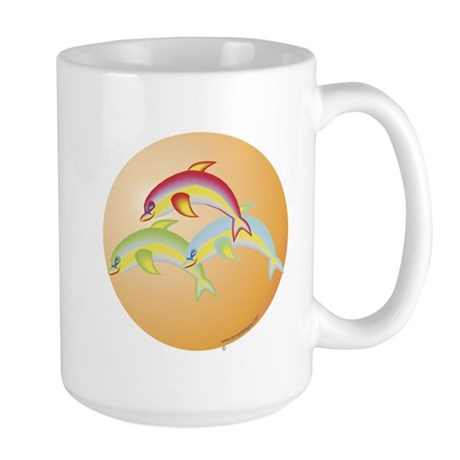 Dolphin Mug Large: Jumping Dolphins