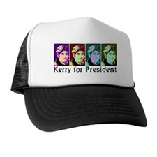 Vote Kerry Pop-Art Trucker Hat