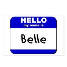 hello my name is belle  Postcards (Package of 8)