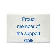Proud Support Staff Rectangle Magnet (10 pack)