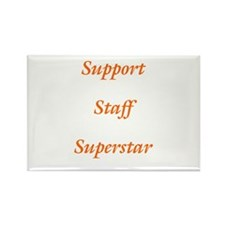 Support Staff Superstar Rectangle Magnet (10 pack)