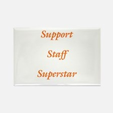 Support Staff Superstar Rectangle Magnet (10 pack)
