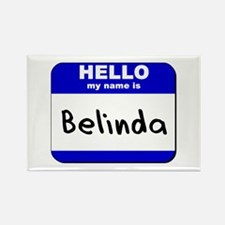 hello my name is belinda Rectangle Magnet