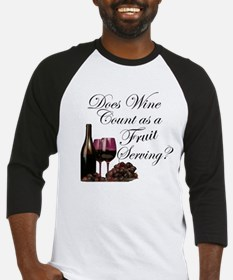 Wine is Fruit? Baseball Jersey