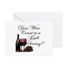 Wine is Fruit? Greeting Cards (Pk of 10)