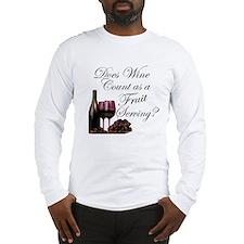 Wine is Fruit? Long Sleeve T-Shirt