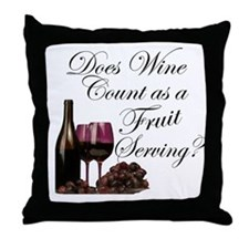Wine is Fruit? Throw Pillow
