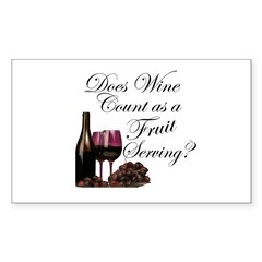 Wine is Fruit? Rectangle Decal