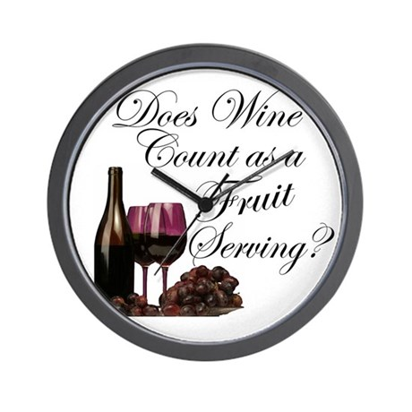 Wine is Fruit? Wall Clock