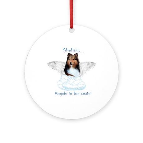 Sheltie Angel Ornament (Round)