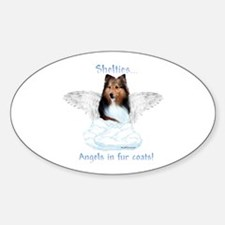 Sheltie Angel Oval Decal
