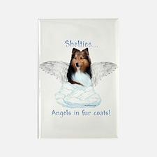 Sheltie Angel Rectangle Magnet
